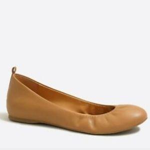 J. Crew Factory ANYA tan leather ballet flats 8